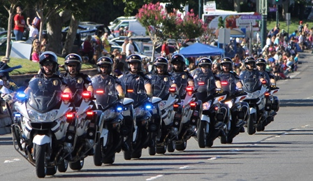 Citrus Heights Police officers in 2014 parade