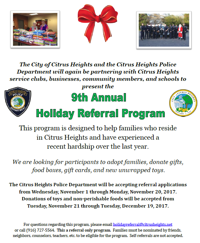 Holiday Referral Flyer
